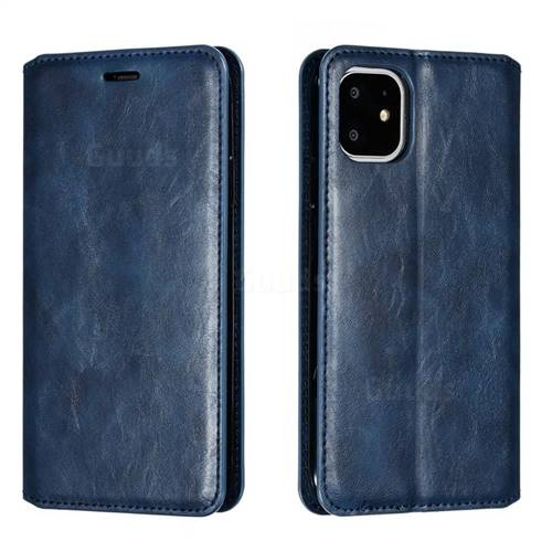 Retro Slim Magnetic Crazy Horse PU Leather Wallet Case for iPhone 11 (6.1 inch) - Blue