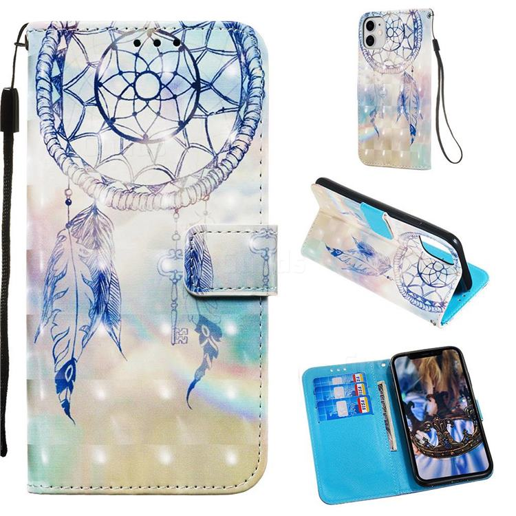 Fantasy Campanula 3D Painted Leather Wallet Case for iPhone 11 (6.1 inch)