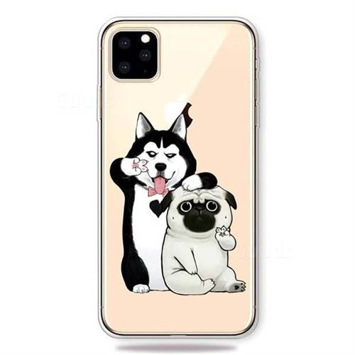 Selfie Dog Clear Varnish Soft Phone Back Cover for iPhone 11 Pro Max (6.5 inch)