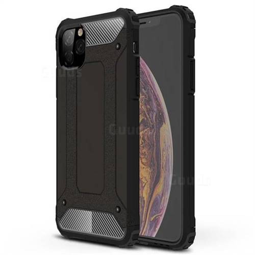 King Kong Armor Premium Shockproof Dual Layer Rugged Hard Cover for iPhone 11 Pro Max (6.5 inch) - Black Gold