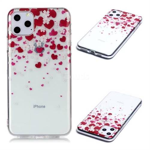 Love Flower Super Clear Soft TPU Back Cover for iPhone 11 Pro Max (6.5 inch)