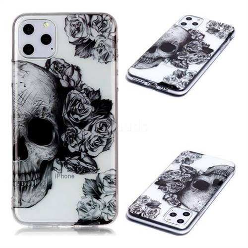 Skull Rose Super Clear Soft TPU Back Cover for iPhone 11 Pro Max (6.5 inch)