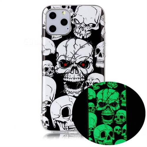 Red-eye Ghost Skull Noctilucent Soft TPU Back Cover for iPhone 11 Pro Max (6.5 inch)