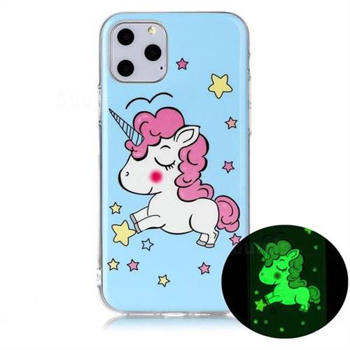 Stars Unicorn Noctilucent Soft TPU Back Cover for iPhone 11 Pro Max (6.5 inch)