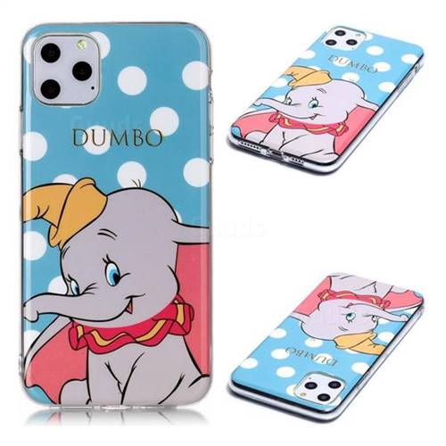 Dumbo Elephant Soft TPU Cell Phone Back Cover for iPhone 11 Pro Max (6.5 inch)