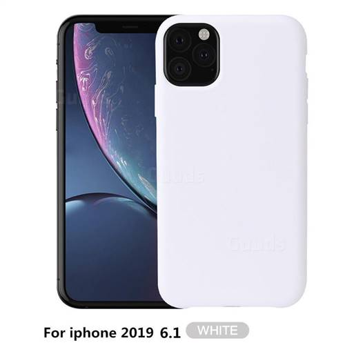 Howmak Slim Liquid Silicone Rubber Shockproof Phone Case Cover for iPhone 11 Max (6.5 inch) - White