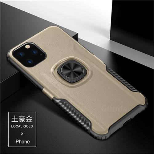 Knight Armor Anti Drop PC + Silicone Invisible Ring Holder Phone Cover for iPhone 11 Pro Max (6.5 inch) - Champagne