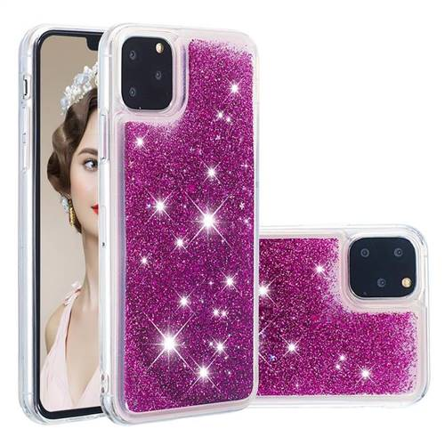 Dynamic Liquid Glitter Quicksand Sequins TPU Phone Case for iPhone 11 Pro Max (6.5 inch) - Purple