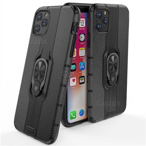 Alita Battle Angel Armor Metal Ring Grip Shockproof Dual Layer Rugged Hard Cover for iPhone 11 Pro Max (6.5 inch) - Black