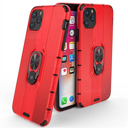 Alita Battle Angel Armor Metal Ring Grip Shockproof Dual Layer Rugged Hard Cover for iPhone 11 Pro Max (6.5 inch) - Red