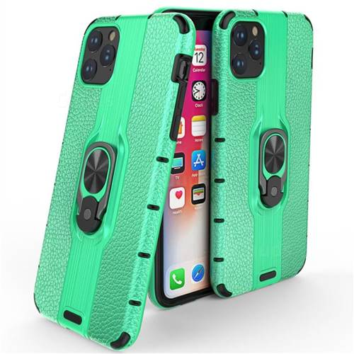 Alita Battle Angel Armor Metal Ring Grip Shockproof Dual Layer Rugged Hard Cover for iPhone 11 Pro Max (6.5 inch) - Green