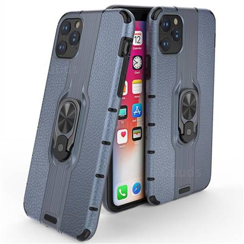 Alita Battle Angel Armor Metal Ring Grip Shockproof Dual Layer Rugged Hard Cover for iPhone 11 Pro Max (6.5 inch) - Blue