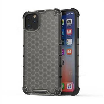 Honeycomb TPU + PC Hybrid Armor Shockproof Case Cover for iPhone 11 Pro Max (6.5 inch) - Gray