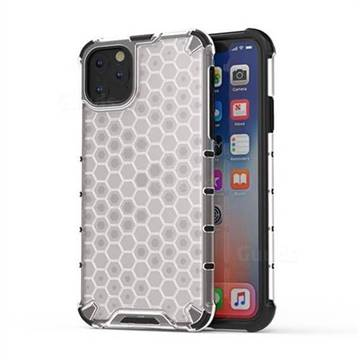 Honeycomb TPU + PC Hybrid Armor Shockproof Case Cover for iPhone 11 Pro Max (6.5 inch) - Transparent