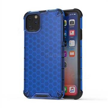 Honeycomb TPU + PC Hybrid Armor Shockproof Case Cover for iPhone 11 Pro Max (6.5 inch) - Blue