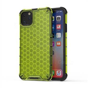 Honeycomb TPU + PC Hybrid Armor Shockproof Case Cover for iPhone 11 Pro Max (6.5 inch) - Green