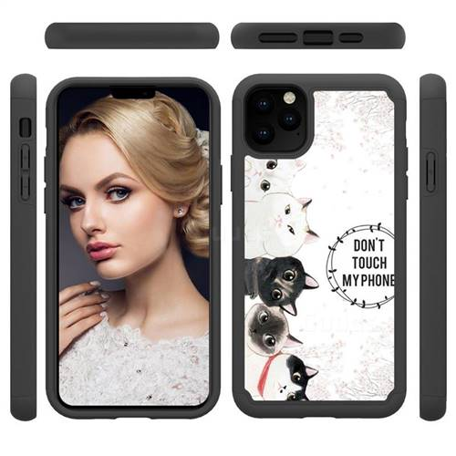 Cute Kittens Shock Absorbing Hybrid Defender Rugged Phone Case Cover for iPhone 11 Pro Max (6.5 inch)