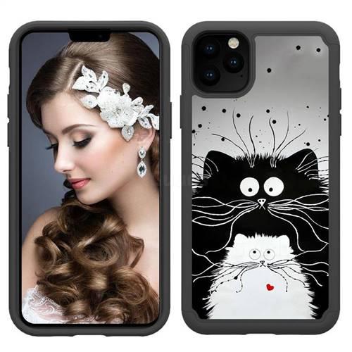 Black And White Cat Shock Absorbing Hybrid Defender Rugged Phone