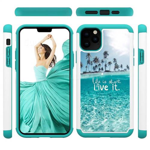 Sea and Tree Shock Absorbing Hybrid Defender Rugged Phone Case Cover for iPhone 11 Pro Max (6.5 inch)
