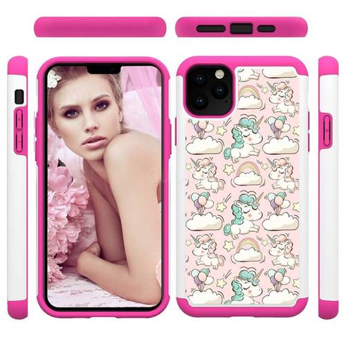 Pink Pony Shock Absorbing Hybrid Defender Rugged Phone Case Cover for iPhone 11 Pro Max (6.5 inch)
