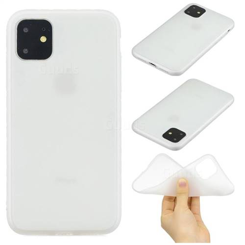 Candy Soft Silicone Protective Phone Case for iPhone 11 Pro Max (6.5 inch)  , White