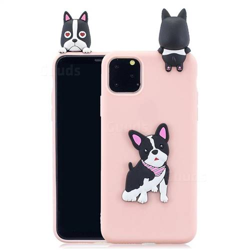 Cute Dog Soft 3D Climbing Doll Soft Case for iPhone 11 Pro Max (6.5 inch)