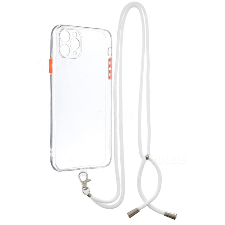 Necklace Cross-body Lanyard Strap Cord Phone Case Cover for iPhone 11 Pro Max (6.5 inch) - Transparent