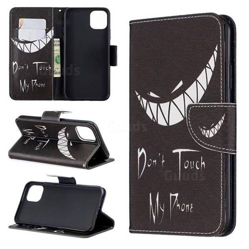 Crooked Grin Leather Wallet Case for iPhone 11 Max