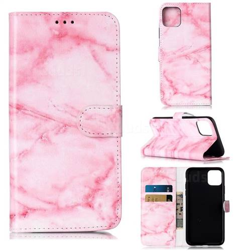 Pink Marble PU Leather Wallet Case for iPhone 11 Pro Max (6.5 inch)