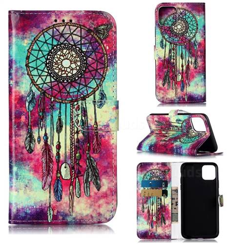 Butterfly Chimes PU Leather Wallet Case for iPhone 11 Pro Max (6.5 inch)