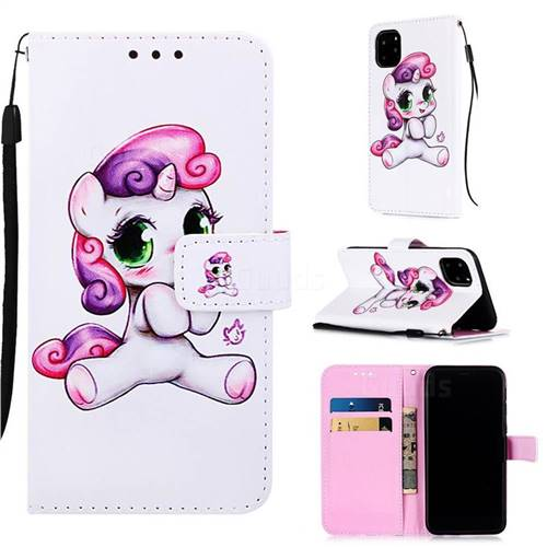 Playful Pony Matte Leather Wallet Phone Case for iPhone 11 Pro Max (6.5 inch)