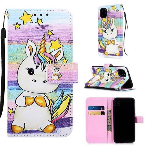 Spiral Pony Matte Leather Wallet Phone Case for iPhone 11 Pro Max (6.5 inch)