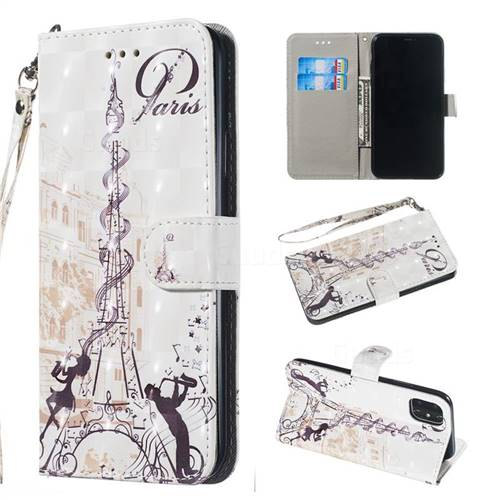 Tower Couple 3D Painted Leather Wallet Phone Case for iPhone 11 Pro Max (6.5 inch)