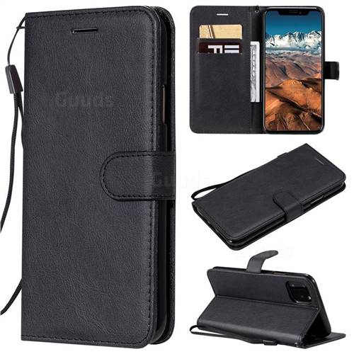 Retro Greek Classic Smooth PU Leather Wallet Phone Case for iPhone 11 Pro Max (6.5 inch) - Black