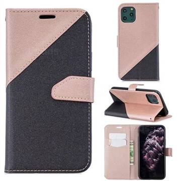 Dual Color Gold,Sand Leather Wallet Case for iPhone 11 Pro Max (6.5 inch)  (Black / Rose Gold )
