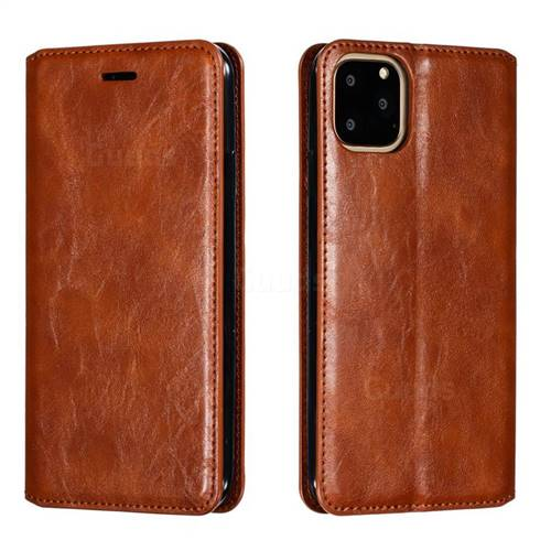 Retro Slim Magnetic Crazy Horse PU Leather Wallet Case for iPhone 11 Pro Max (6.5 inch) - Brown