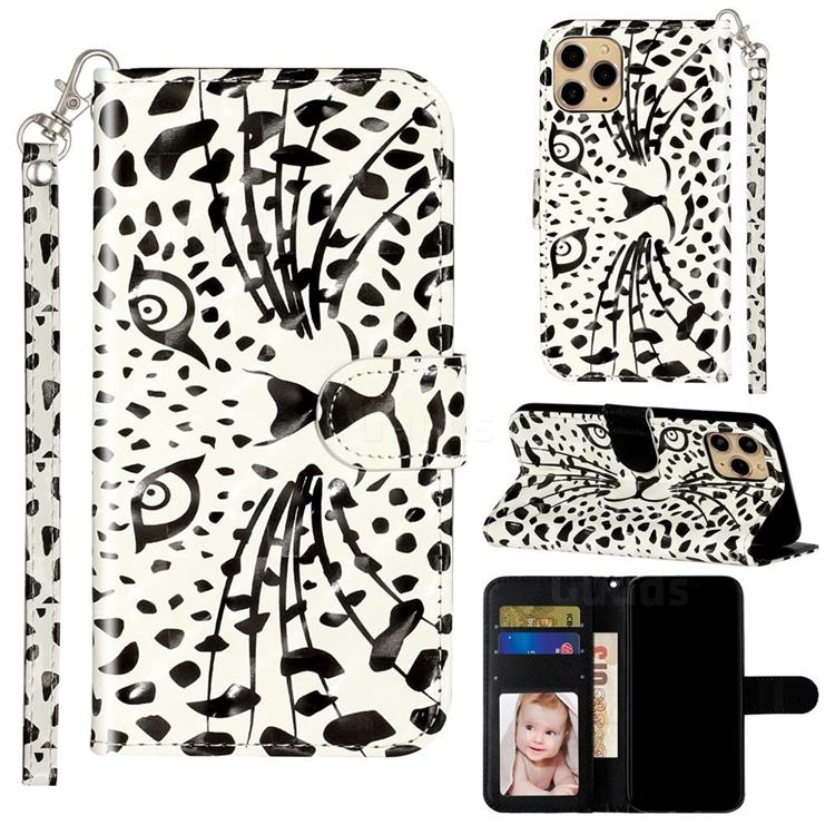 Leopard Panther 3D Leather Phone Holster Wallet Case for iPhone 11 Pro Max (6.5 inch)