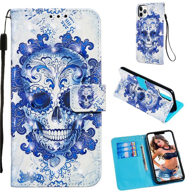 Cloud Kito 3D Painted Leather Wallet Case for iPhone 11 Pro Max (6.5 inch)