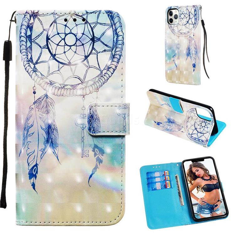 Fantasy Campanula 3D Painted Leather Wallet Case for iPhone 11 Pro Max (6.5 inch)