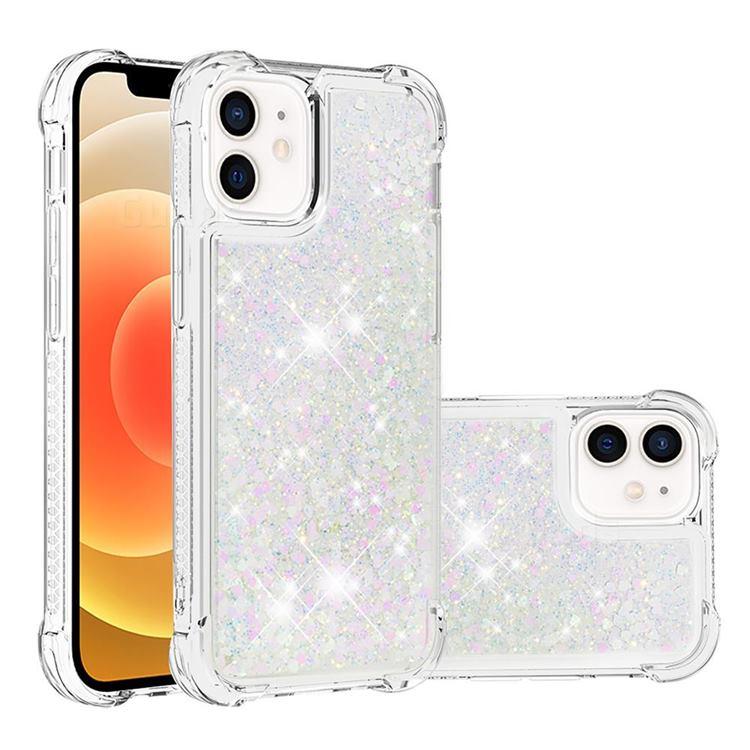 Dynamic Liquid Glitter Sand Quicksand Star TPU Case for iPhone 12 mini (5.4 inch) - Pink