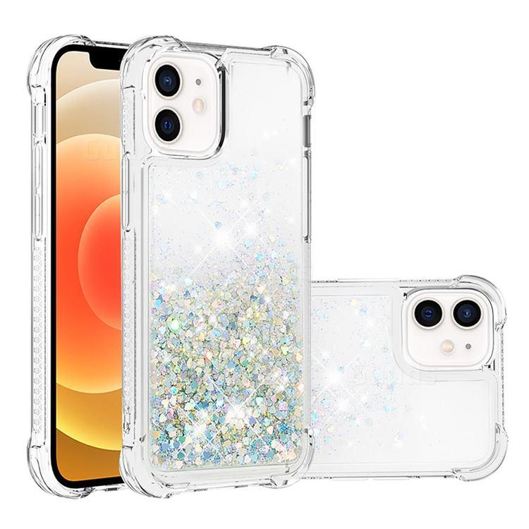Dynamic Liquid Glitter Sand Quicksand Star TPU Case for iPhone 12 mini (5.4 inch) - Silver