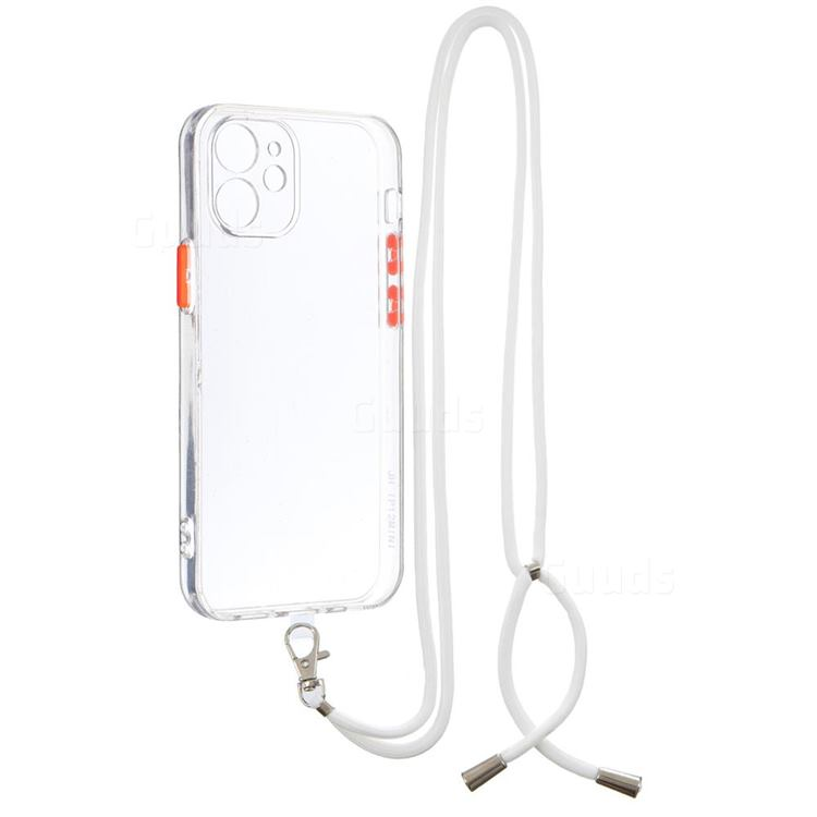 Necklace Cross-body Lanyard Strap Cord Phone Case Cover for iPhone 12 mini (5.4 inch) - Transparent