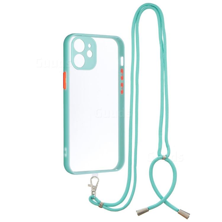 Necklace Cross-body Lanyard Strap Cord Phone Case Cover for iPhone 12 mini (5.4 inch) - Blue