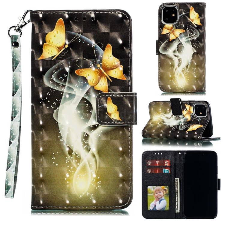Dream Butterfly 3D Painted Leather Phone Wallet Case for iPhone 12 (5.4 inch)
