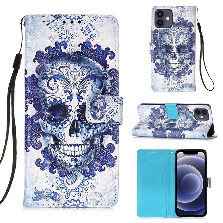 Cloud Kito 3D Painted Leather Wallet Case for iPhone 12 mini (5.4 inch)