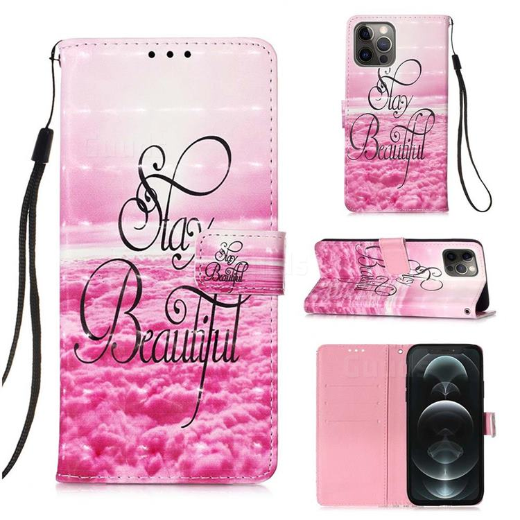 Beautiful 3D Painted Leather Wallet Case for iPhone 12 / 12 Pro (6.1 inch)