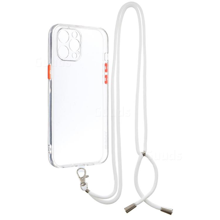 Necklace Cross-body Lanyard Strap Cord Phone Case Cover for iPhone 12 Pro Max (6.7 inch) - Transparent