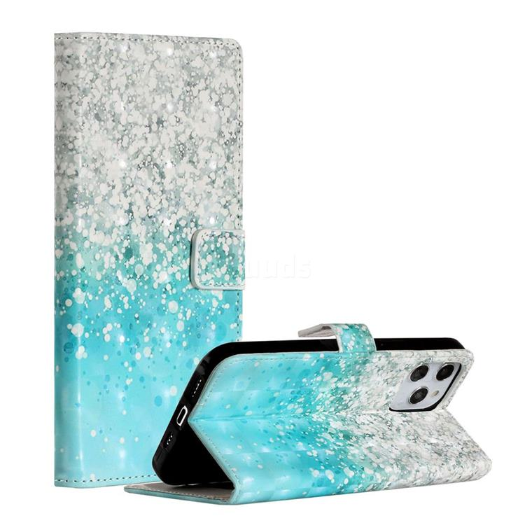 Sea Sand 3D Painted Leather Phone Wallet Case for iPhone 12 Pro Max (6.7 inch)