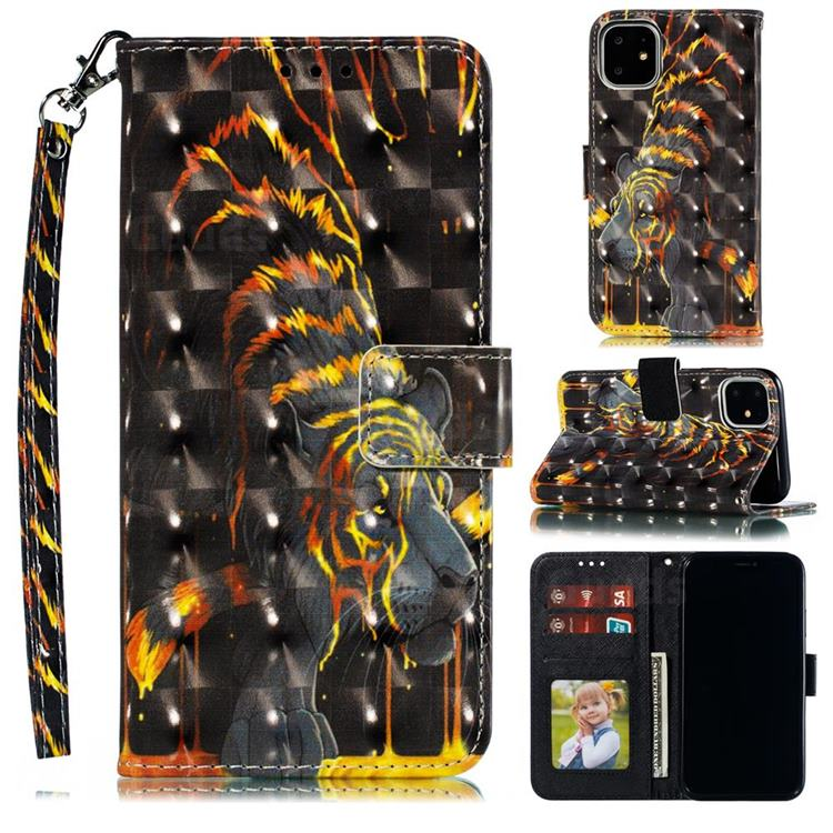 Tiger Totem 3D Painted Leather Phone Wallet Case for iPhone 12 Pro Max (6.7 inch)