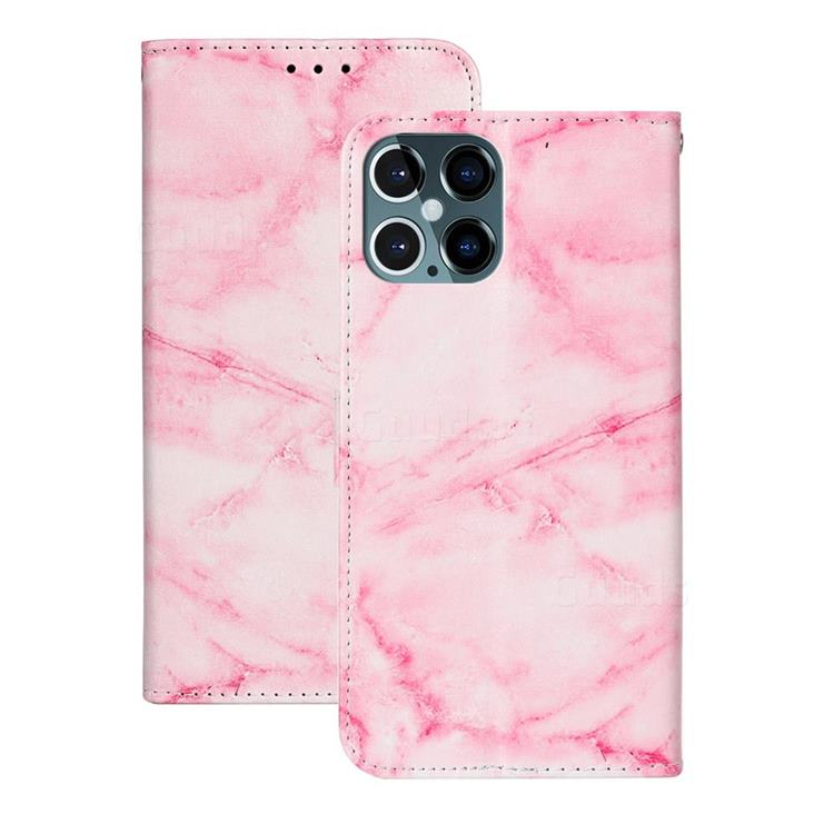 Pink Marble PU Leather Wallet Case for iPhone 12 Pro Max (6.7 inch)